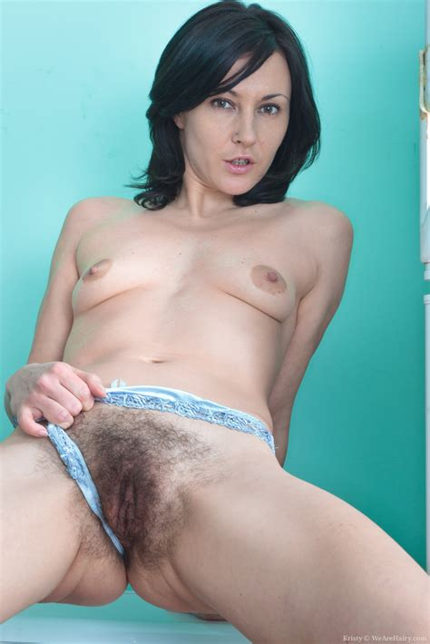 Kristy Stuffs Her Panties Into Her Hairy Pussy