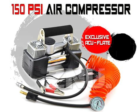 150 Psi Air Compressor 12v Car 4x4 Bike Tyre Inflator