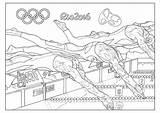 Coloring Olympic Swimming Rio Games Pages Adult Sports Adults Gymnastic Basketball Fencing Incredible sketch template
