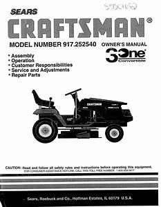 Sears 917 25254 Users Manual