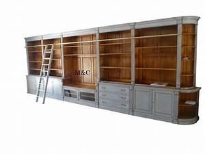 Meuble Bibliothèque Bois : bibliotheque bois massif sur mesure ~ Teatrodelosmanantiales.com Idées de Décoration