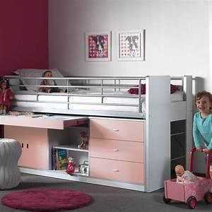 Lit Enfant Combiné : lit combin enfant bonny rose ~ Farleysfitness.com Idées de Décoration