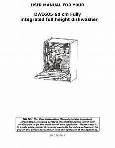 Baumatic Dwi605 Dishwasher