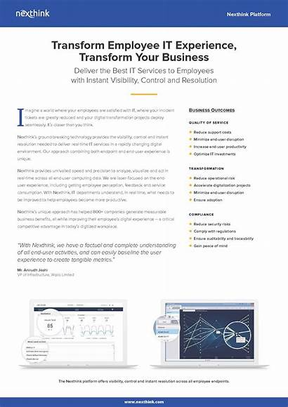 Sheet Fact Nexthink Platform