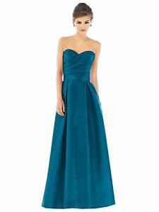 dessy alfred sung d539 bridesmaid dress box pleated skirt With alfred sung wedding dresses