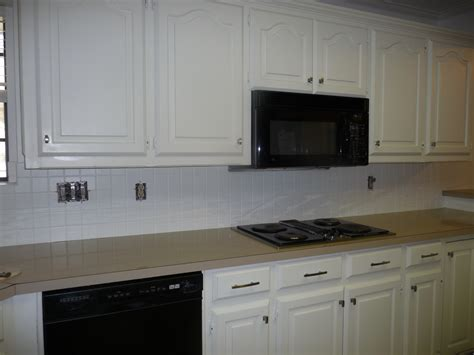 painted kitchen backsplash painting a tile backsplash part 2 hilldalehouse