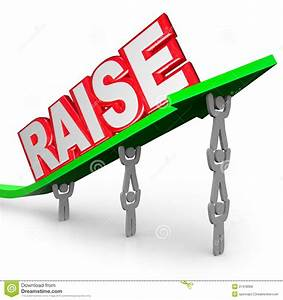 Pay Raise Word Increased Income Workers Lift Arrow Stock ...