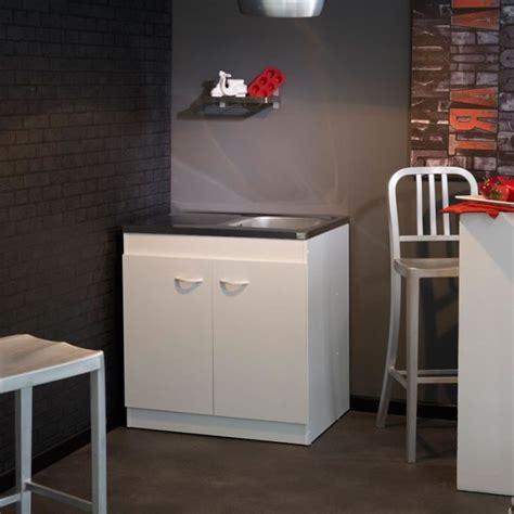 meuble cuisine 80 cm meuble sous evier avec evier 1 bac achat vente meuble
