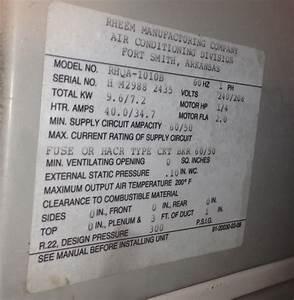 My Rheem Air Handler That Has Heat Pump With Auxiliary Has