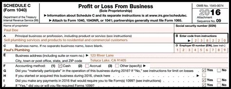 irs  form schedule