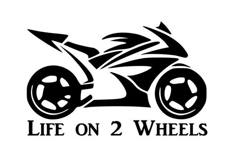 Life On 2 Wheels Street Bike Sticker Motorcycle 600cc