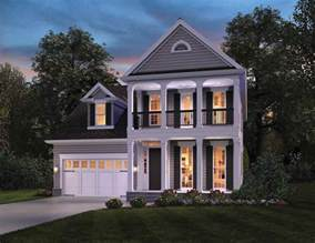 colonial home plans with photos narrow lot house plans