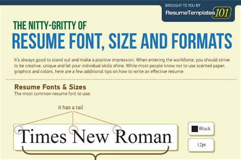 Best Fonts For A Resume by Best Fonts And Proper Font Size For Resumes