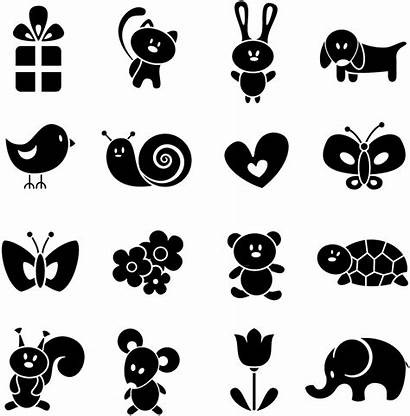 Animal Cartoon Silhouettes Vector Silhouette Svg Animals