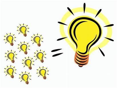 Idea Clip Bulb Clipart Bright Innovation Invention