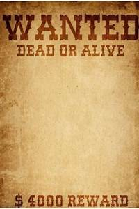 wanted dead or alive template postermywall With wanted dead or alive poster template free