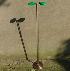 herda brass floor lamp with green glass shades catawiki With floor lamp with green glass shade