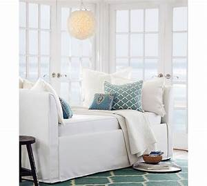 good pottery barn daybeds on lewis slipcovered daybed With day beds pottery barn