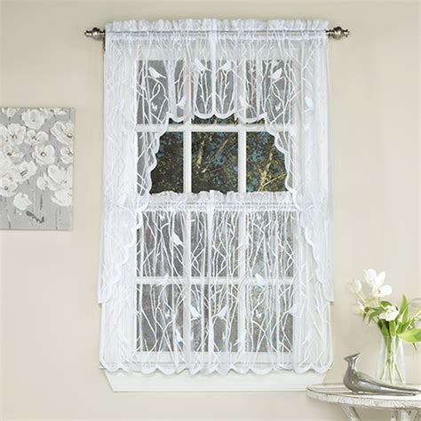 Songbird Jacquard Lace Kitchen Curtains   Boscov's