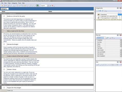 graduation checklist template event checklist to do lists for events to do list organizer checklist pim time and task