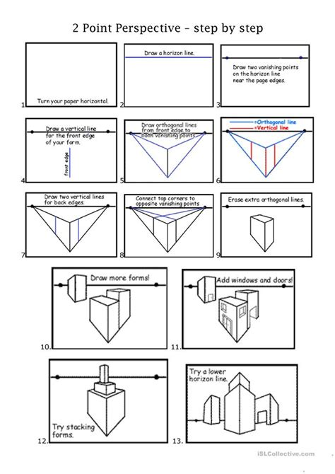 2pt Perspective Worksheet  Free Esl Printable Worksheets Made By Teachers