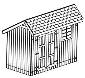 12x12 custom gable roof backyard shed cabin plans learn