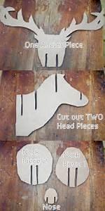 faux taxidermy deer diy madtown gals With diy cardboard deer head template