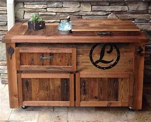 Reclaimed Cooler Bar Cabinet - Reclaimed,… Rustic