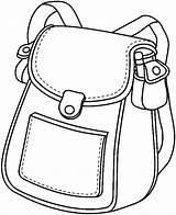 Clipart Bags Clip Library Bag sketch template