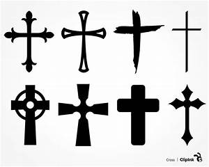 Cross svg, Cross clipart, silhouette svg, png, eps, dxf, pdf
