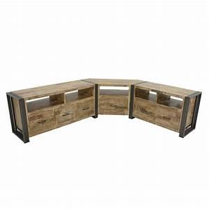 Meuble Angle Bois : meuble tele d angle maison design ~ Edinachiropracticcenter.com Idées de Décoration