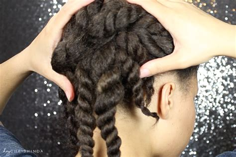 Simple Natural Hair Flat Twist Updo (3 Twists And A Bun