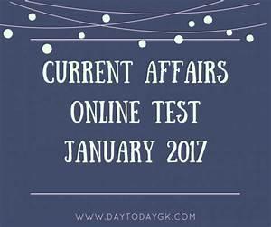 Current Affairs Online Test January 2017   DayTodayGK