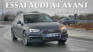 Dimension Audi A4 Avant : essai de l 39 audi a4 avant 2 0l tdi 190 s tronic youtube ~ Medecine-chirurgie-esthetiques.com Avis de Voitures