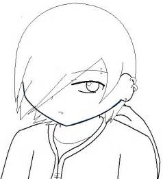Emo Anime Boy Coloring Pages