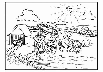 Beach Coloring Worksheets Resources Pages Refugee Animals