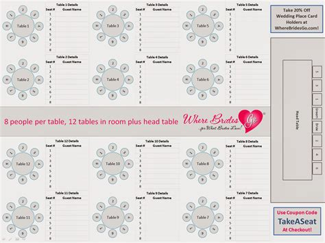wedding reception layout seating chart for wedding reception template