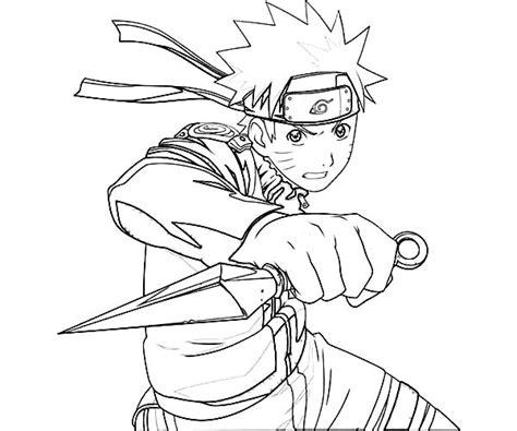 Anime Uzumaki Naruto Coloring Page