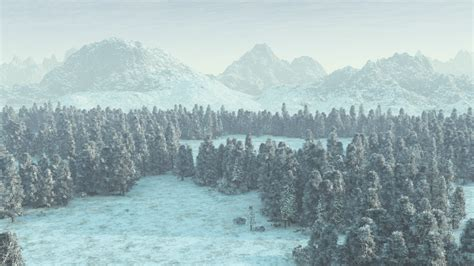 Snowy Landscape Wallpaper By Vuenick On Deviantart