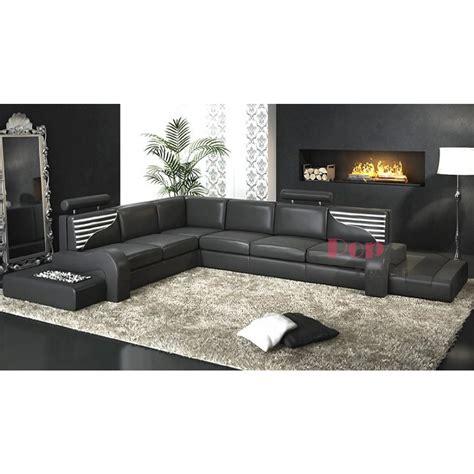 canapé cuir veritable grand canapé d 39 angle en cuir véritable argentine pop