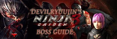 Ninja Gaiden 3 Boss Guide
