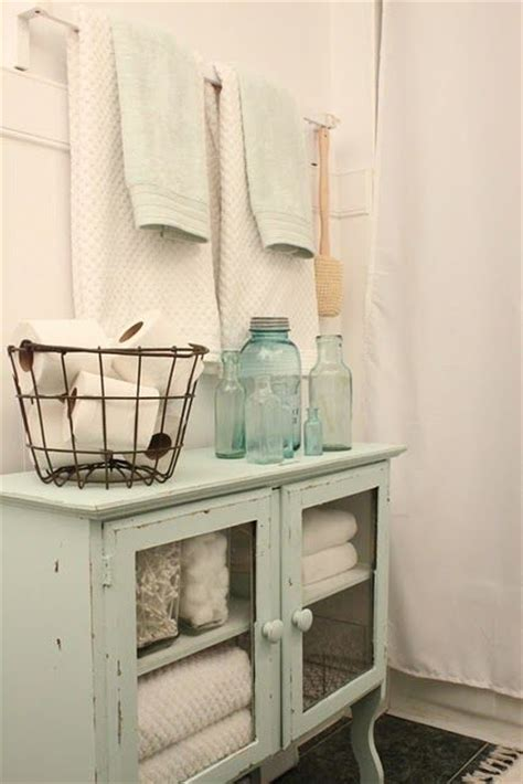 shabby chic bathroom storage this bathroom storage area is shabby chic rustic and perfect the colors the antique decor
