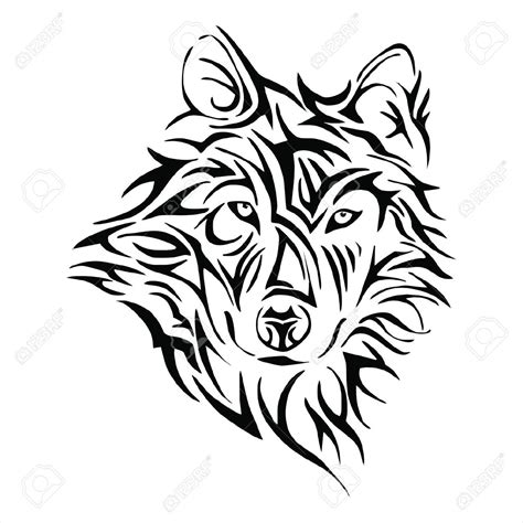 tribal wolf head google search tatouage pinterest