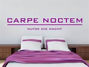 Wandtattoo Carpe Noctem : wandtattoo carpe noctem nutze die nacht von ~ Sanjose-hotels-ca.com Haus und Dekorationen