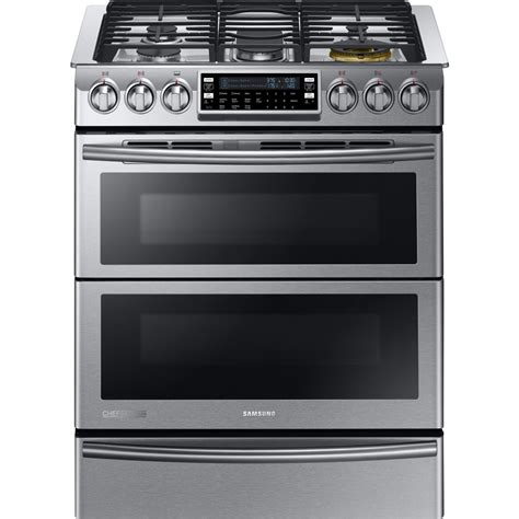 ge slide in gas range reviews ny58j9850ws samsung chef collection dual fuel range w