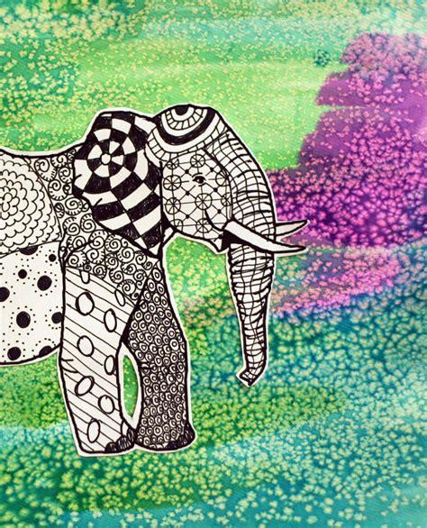 drawing zentangle elephants   takes