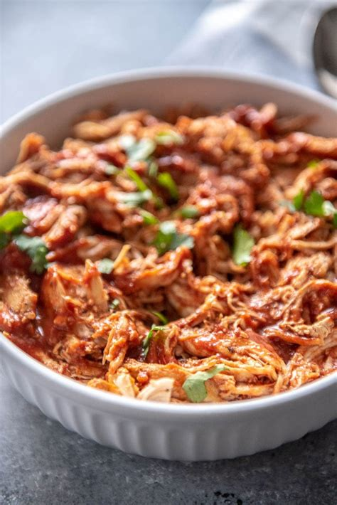 This recipe takes only 30 minutes from start to finish! Instant Pot BBQ Chicken - Garnished Plate