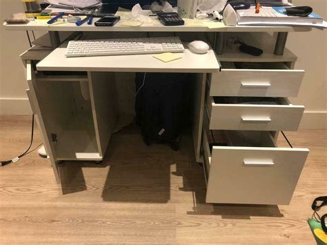 Construction of this desk is perfect for. Computer desk white - Very good condition | in London ...