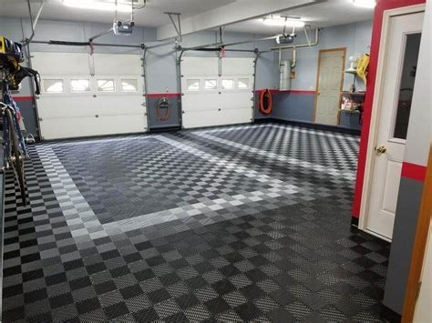 Before and After TrueLock HD Garage Floor Tiles