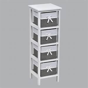 Meuble A Panier : meuble panier narrow gris meuble d co eminza ~ Teatrodelosmanantiales.com Idées de Décoration